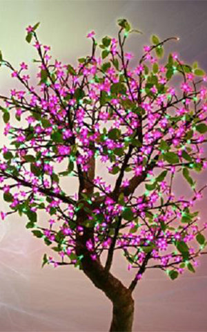 LED PINK CHERRY BLOSSOM TREE
