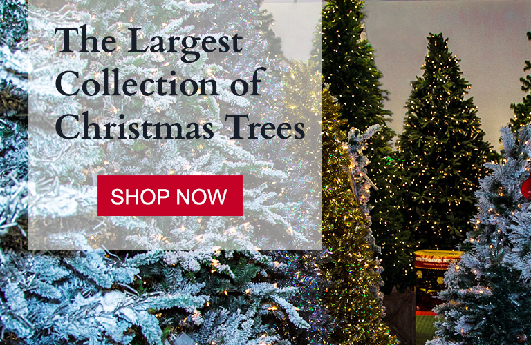 The Larget Collection of Christmas Trees. Shop Now.