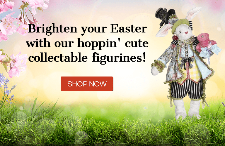 Brighten your Easter with our hoppin' cute collectable figurines! Shop Now!
