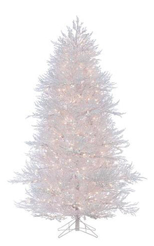TWIG FLOCKED TREE PRELIT