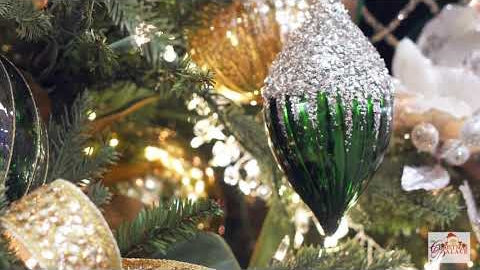 Closeup of a Christmas Tree's ornaments