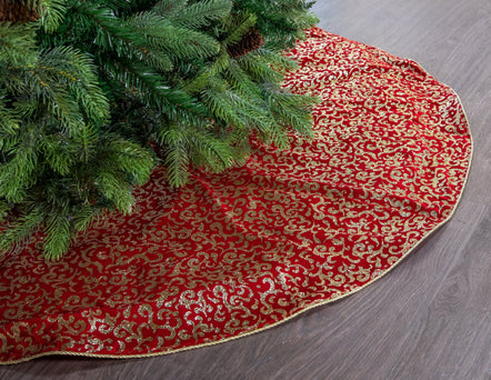 Sparkling Filigree Tree Skirt, 48""