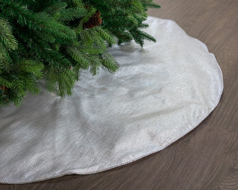 Silver Lamé Tree Skirt, 48""
