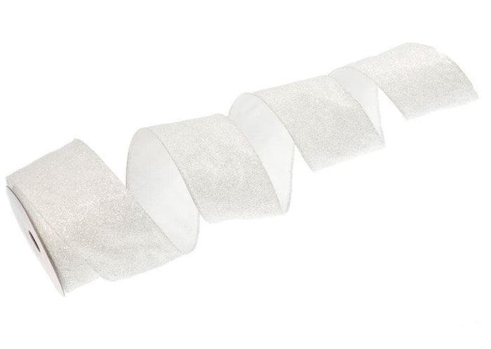 "2.5"" X 10YD WHITE IRRIDESCENT RIBBON CASE of 12"