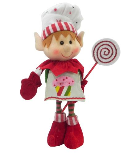 "15"" PIXIE ELF WITH LOLLIPOP SET OF 2"