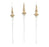 "16"" CELLINE GLASS ICICLE ORNAMENT SET OF 6"