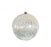 "8"" PEWTER BALL WITH GLITTER ORNAMENT SET OF 2"