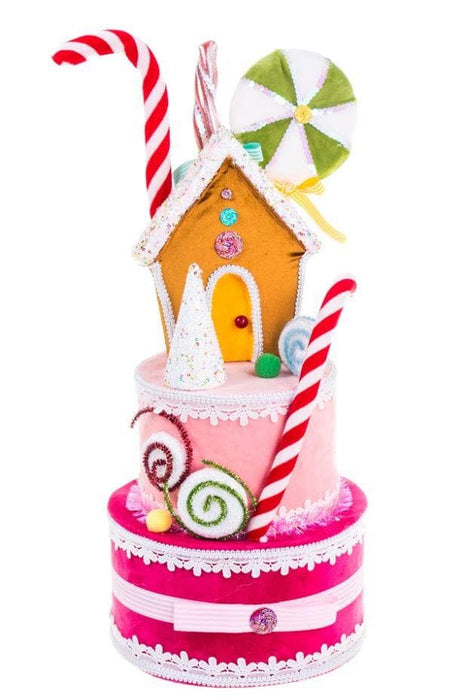 "22"" PINK 3 TIER CANDY HOUSE"