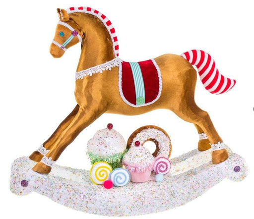 "23"" BROWN  ROCKING CANDY HORSE"