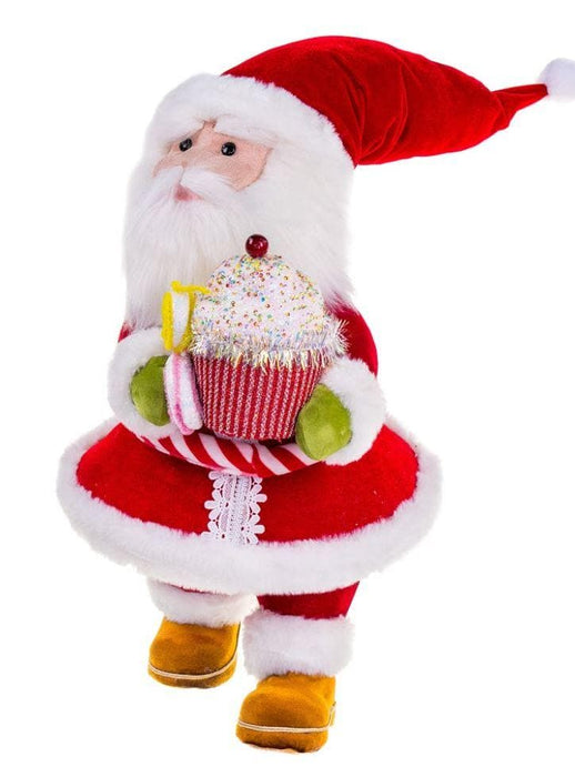 "22"" RED SANTA WITH CUPCAKES"