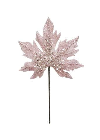 "16"" PINK LEAF STEM SET OF 6"