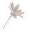 "12"" WHITE & SILVER JEWEL POINSETTIA PICK SET OF 6"