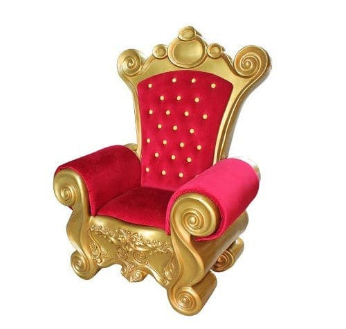 5 FT RED & GOLD SANTA CHAIR