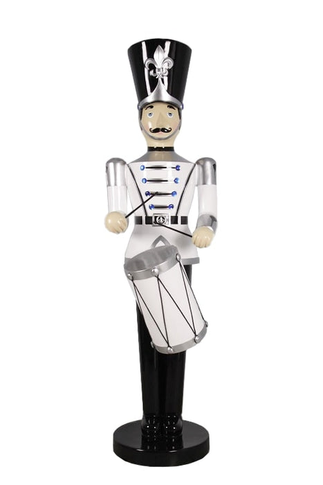 9 FT SILVER , WHITE . BLACK  SOLDIER WITH DRUM
