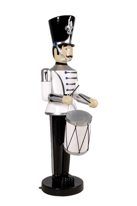 6' SILVER ,WHITE & BLACK SOLDIER WITH DRUM
