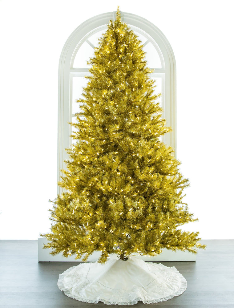 6.5 FT LASER GOLD TREE PRE LIT LED