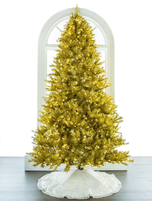 7.5 FT  LASER GOLD TREE PRE LIT LED
