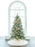 6 FT FLOCKED TREE PRELIT CLEAR LIGHTS