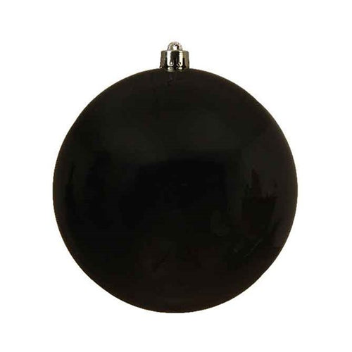 "5.5"" BLACK SHINY BALL PACK OF 6"