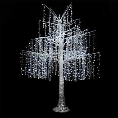 6 FT LED PURE WHITE CRYSTAL TREE