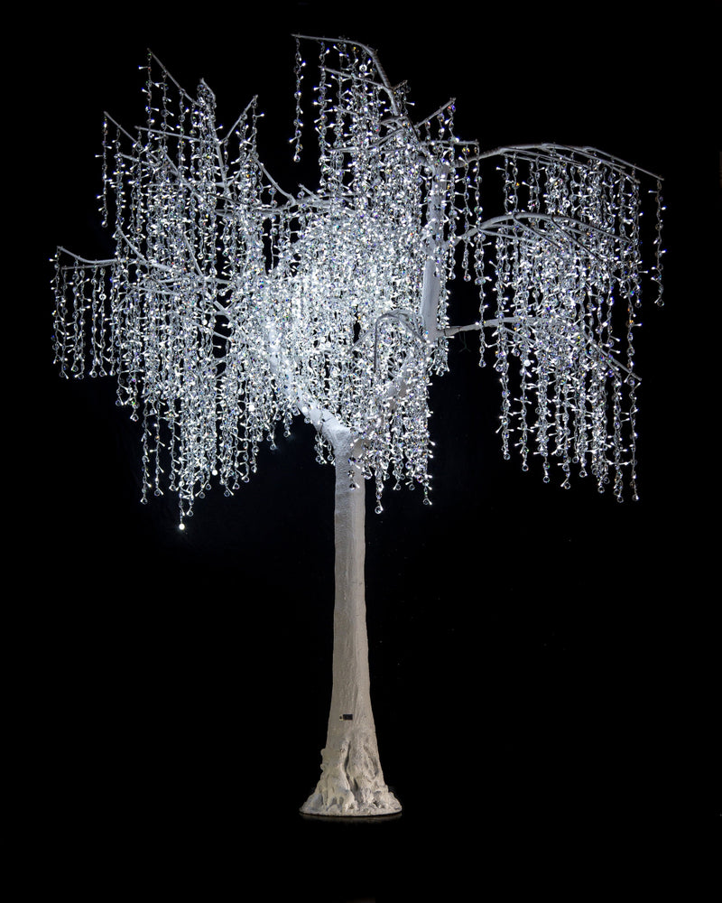 8 FT LED PURE WHITE CRYSTAL TREE