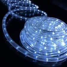 "150' LED SNOW WHITE ROPE LIGHT, 1/2"" DIAMETER"