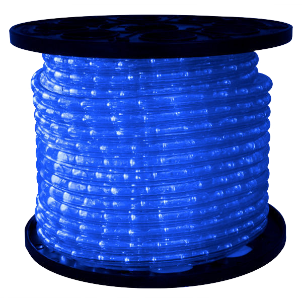 "150' LED BLUE ROPE LIGHT, 1/2"" DIAMETER"