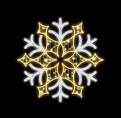 "48"" LED CRYSTAL SNOWFLAKE 120V"