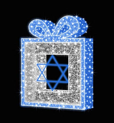 "48""X36""X6"" BLUE WHITE GIFT BOX"