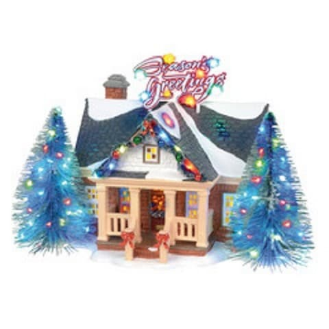 SNOW VILLAGE BRITE LITES HOLIDAY HOUSE