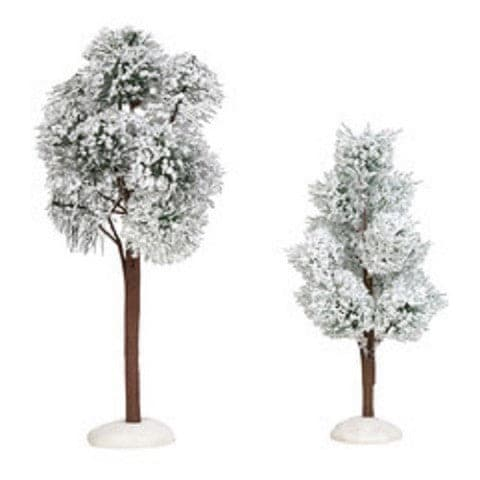 VILLAGE ACCESSORY SNOWY JACK PINE TREES