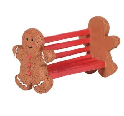 VILLAGE GINGERBREAD BENCH