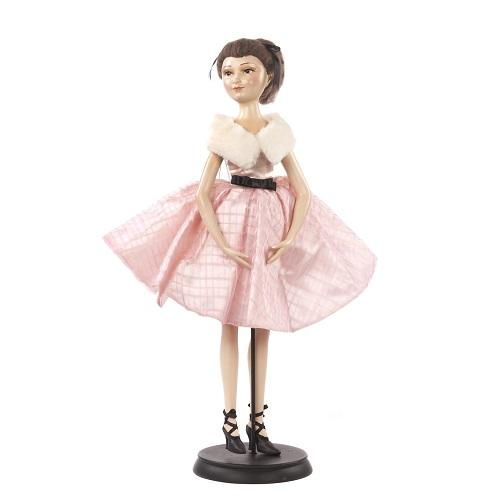 "24"" PARIS BRUNETTE LADY DOLL WITH STAND"