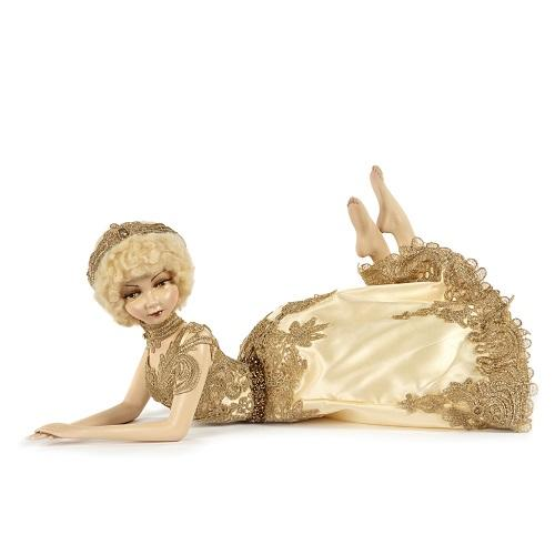 "19"" GOLD LACE LYING DOLL"