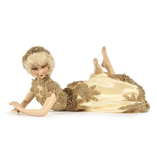 "11"" LACE LYING DOLL"