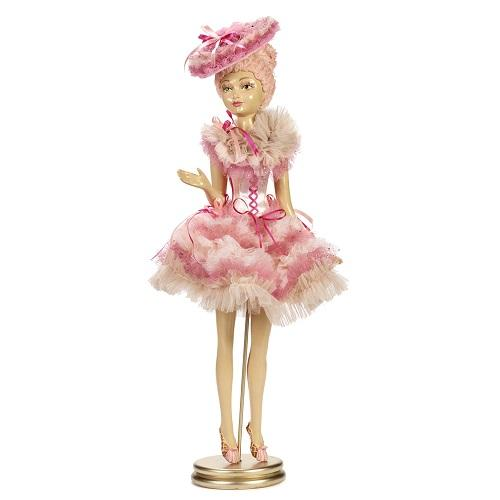 "26"" CANDY RUFFLE DOLL WITH STAND"