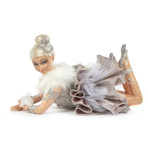 "11"" WINTER LYING BALLERNA DOLL"
