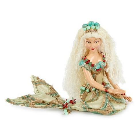 "9"" CORAL SHELL MERMAID DOLL"