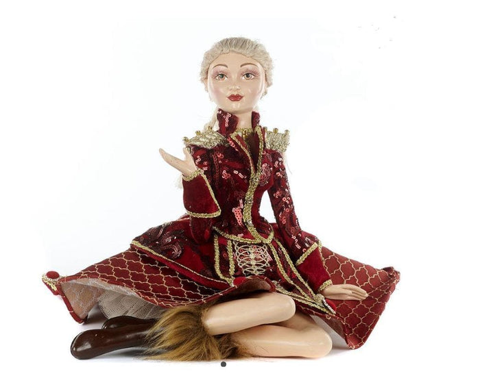 "14"" NUTCRACKER SITT LADY DOLL"