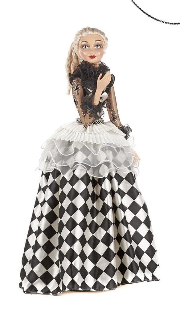 "26"" COMMEDIA PIERROT LADY DOLL"