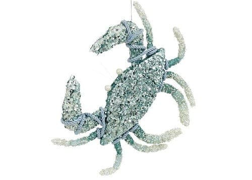 "Mark Roberts 11.5"" BEADED CRAB ORNAMENT"