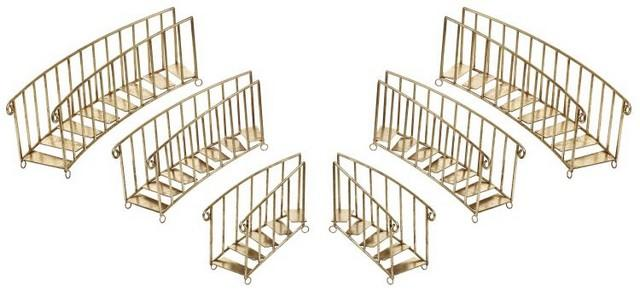GOLD GRAND CHRISTMAS STAIRCASE SET OF 6