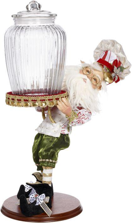 "19"" MARK ROBERTS CONFECTIONARY ELF WITH JAR"