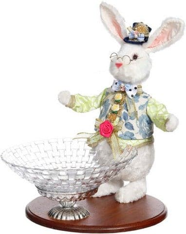 "16"" RABBIT WITH WOVEN BOWL"