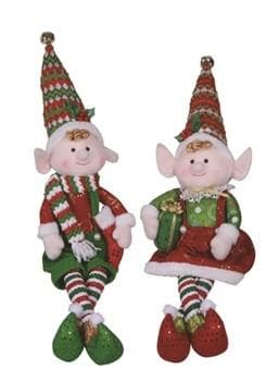 "23"" SITTING ELF ASSORTED SET OF 2"