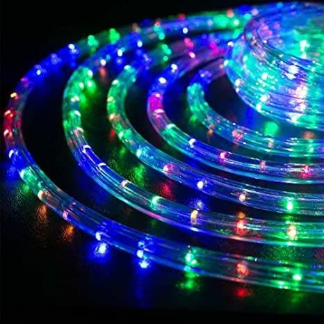 32.8 FT 200 LED MULTI COLOR ROPE LIGHT WITH 8 FUNCTION TWINKLE