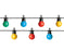 31.2 FT STARTER SET MULTI MILKY PARTY CONNECT 1 STRING OF 20 BULBS