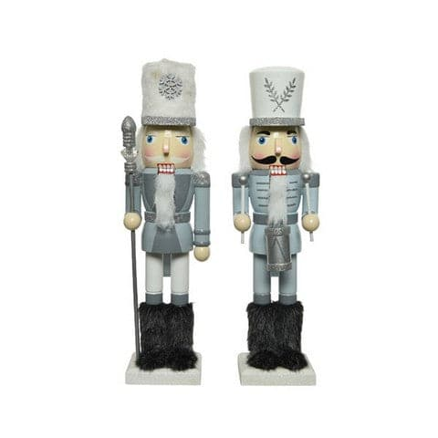 "4"" LIGHT BLUE NUTCRACKER SET OF 2"