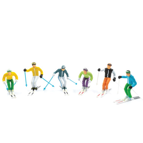 6PC STANDING SKIERS