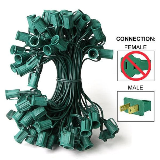 100' C9  GREEN WIRE